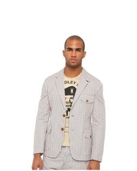 e6cbc09ed70 ... Vivienne Westwood MAN Gingham Cotton Blazer Jacket Seersucker