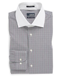 1901 Trim Fit Gingham Dress Shirt Purple Dark 165 3233