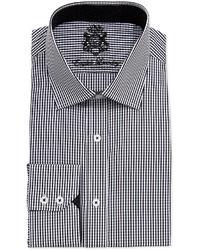 English Laundry Long Sleeve Gingham Dress Shirt White