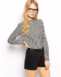 Gingham shirt black medium 116011