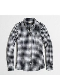 J.Crew Factory Factory Classic Button Down Shirt In Suckered Gingham