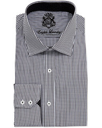 English Laundry Long Sleeve Gingham Dress Shirt White
