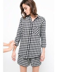 Mango Gingham Check Shirt