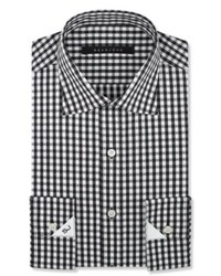 Sean John Black And White Check Dress Shirt