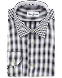 Robert Graham Teddy Gingham Dress Shirt Black