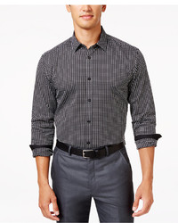 Gingham long sleeve shirt only at macys medium 1343140