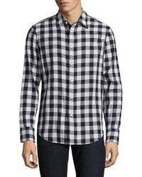 rag & bone Halsey Fabric Block Gingham Checkered Shirt