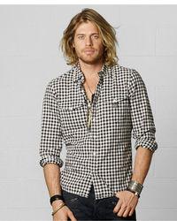 Denim & Supply Ralph Lauren Long Sleeve Checked Cotton Workshirt