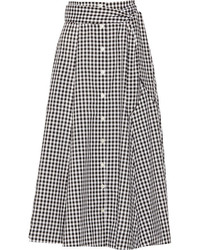 Gingham poplin skirt medium 125983