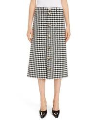 Balenciaga Snap Front Vichy Skirt