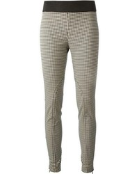 Black and White Gingham Skinny Pants