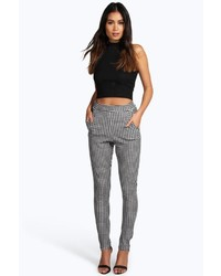Boohoo Catarina Monochrome Gingham Skinny Trousers