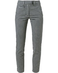 Dondup Checked Slim Cropped Trousers