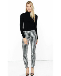 Gingham Check Low Rise Editor Ankle Pant