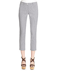 Michael kors gingham stretch poplin pants medium 395034