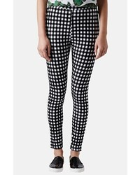 Topshop Gingham Flocked Leggings