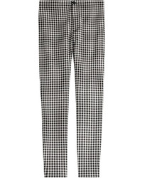 Victoria Beckham Victoria Gingham Printed Skinny Pants