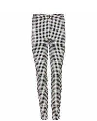 Victoria Victoria Beckham Gingham Cotton Blend Trousers