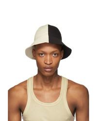 Rick Owens DRKSHDW Black And Off White Gilligan Hat