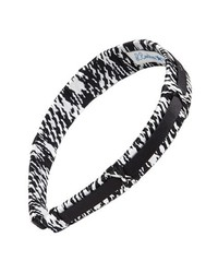L. Erickson Two Tone Headband Giant Houndstooth Black