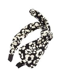 Tasha Inky Dot Headband Black White