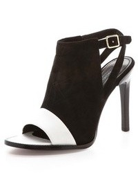 Black and white heeled sandals original 4530565