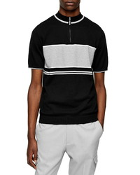 Topman Classic Fit Quarter Zip Sweater