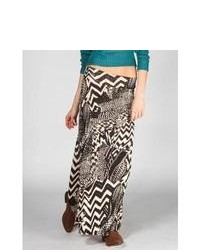 Lily White Abstract Print Maxi Skirt Black Combo In Sizes X Small Large Medium Small For 229571149