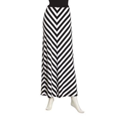 the gallery for gt black and white maxi skirt