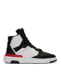 Givenchy Black And White Wing High Sneakers
