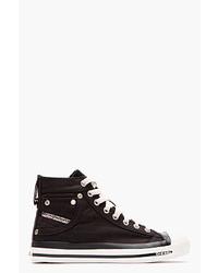 Black high top exposure sneakers medium 28193