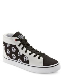 Disney Mickey Mouse High Top Sneakers Black White