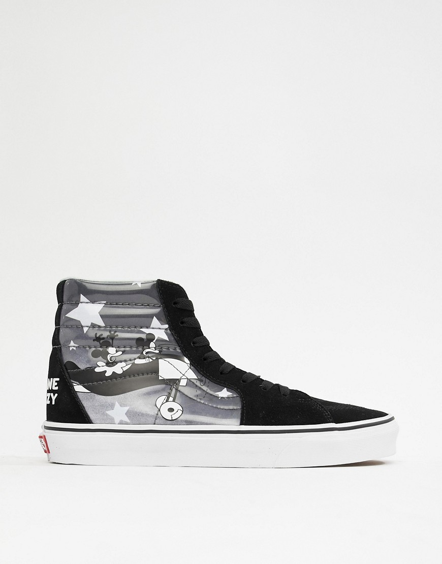 Vans X Mickey Mouse Sk8 Hi Trainers In
