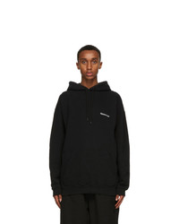 Balenciaga Black Bb Medium Fit Hoodie