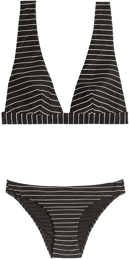 8e238bea8e4 ... Black and White Horizontal Striped Bikini Tops Zimmermann Striped  Bandeau Bikini ...