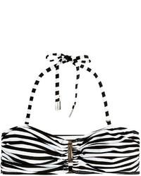 Striped bandeau bikini top medium 209422