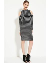 Forever 21 Open Shoulder Striped Dress