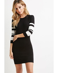 Forever 21 Striped Sleeve Bodycon Dress