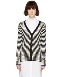 Black and white striped cardigan medium 1252216