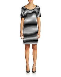 Michael kors striped cotton shift dress medium 145200