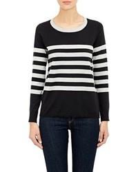 Barneys New York Stripe Sweater Black
