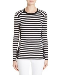 Burberry Belice Stripe Merino Wool Sweater