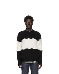 Officine Generale Black And White Bed Sweater