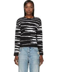 Versace Black Jacquard Stripe Sweater