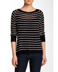 Inhabit Boatneck 34 Length Sleeve Stripe Knit Sweater
