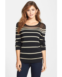 Vince Camuto Engineered Stripe Sweater