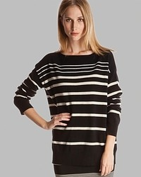 Halston Heritage Sweater Boat Neck Striped
