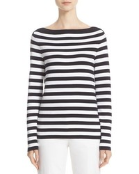 Michael Kors Michl Kors Stripe Boatneck Sweater