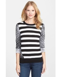 MICHAEL Michael Kors Michl Michl Kors Stripe Dot Crewneck Sweater