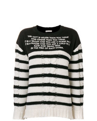 EACH X OTHER Mix Media Striped Sailor Jumper